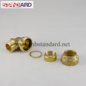 Male Elbow Thread Brass PE Fitting pictures & photos