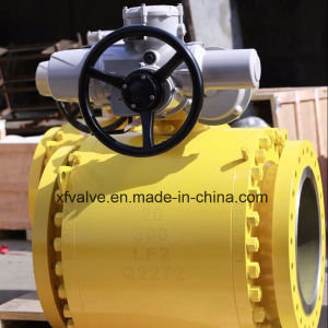 150lb 300lb 600lb Cast Steel Trunnion Mounted Flange Ball Valve