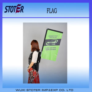 2014 Cheap Street Walking Advertising Backpack Flag pictures & photos