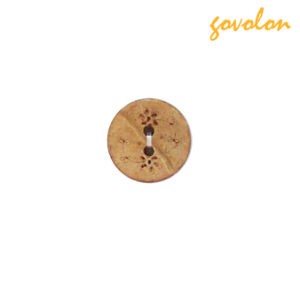 High Quality 2 Holes Wooden Button for Garments pictures & photos