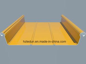 Aluminium Standing Seam Roofing Sheet (trizip300Golden yellow1004) pictures & photos