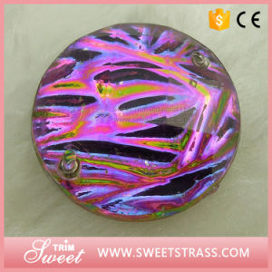 High Brightness Shiny Loose Flat Back Acrylic Crystal Stones for Saree pictures & photos