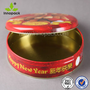 4L Embossed Printed Food Grade Candy Cookie Metal Box pictures & photos