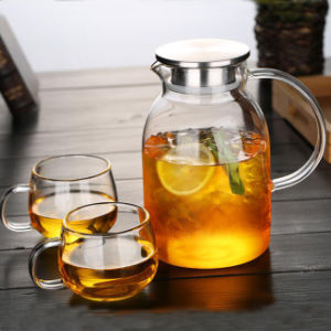 Export Beautiful Design Teapot Glass Tea Pitcher Pyrex Tea Pot Tea Jug pictures & photos