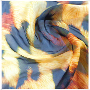 Printed Chiffon Silk Fabrics with SGS Approved pictures & photos