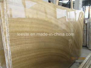 Polished Natural Marble Stone, Yellow Wooden Marble Tile pictures & photos
