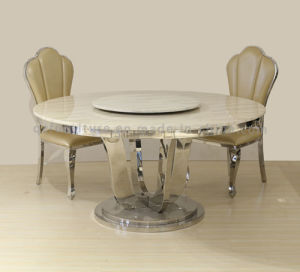 Round Marble Stainless Steel Legs Dining Room Banquet Table pictures & photos