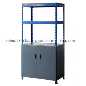 Metal Rack Storage Shelf with Cabinet (9045C-1) pictures & photos
