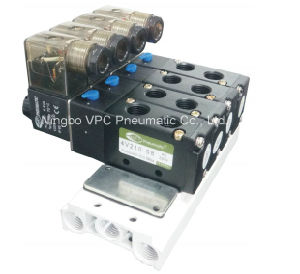 Solenoid Valve 4V210-08 Base Manifold Solenoid Valve pictures & photos