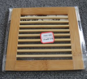 (BC-M1017) Handmade Natural Bamboo Square Heat Insulation Mat pictures & photos