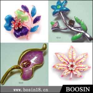 Factory Top Sale Candy Color Flower Brooch for Women #5114 pictures & photos