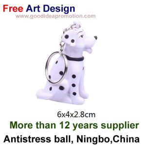 PU Antistress Dog with Keychain Design pictures & photos