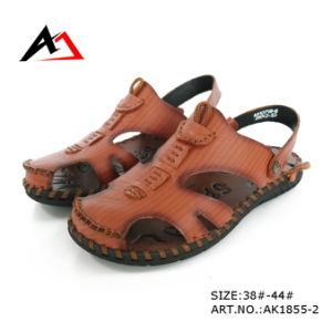 Sandal Shoes Casual Leather Slippers Wholesale Foe Men (AK1855) pictures & photos