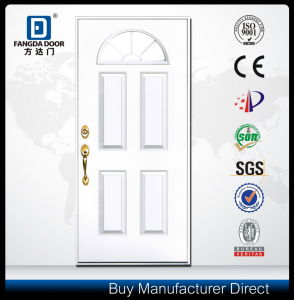 Decorative Glass Inserted Entrance Fiberglass Door pictures & photos