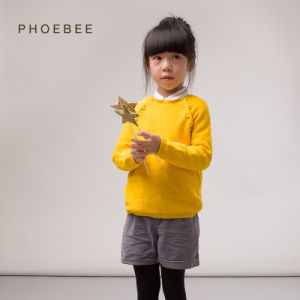 100% Cotton Wholesale Phoebee Sweater Knitted Baby Clothes pictures & photos