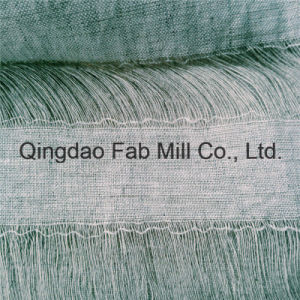 100%Linen Hollow out Linen Fabric (QF16-2537) pictures & photos