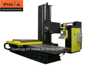 Six Axis CNC Horizontal Boring and Milling Machining Center (HBM-130T3T) pictures & photos