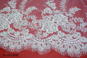 Factory Wholesale Lace Fabric Low Price Wedding Vl-60196-Bc pictures & photos
