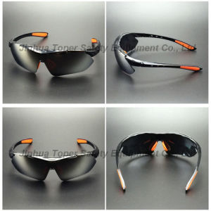 Sports Type Rainbow Mirror Lens Safety Glasses with Pad (SG115) pictures & photos