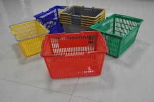 Plastic Supermarket Equipment Shopping Basket pictures & photos