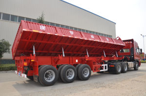 Dongrun Brand 3 Axle Right Dumping Side Wall/Dumper Semi-Trailer