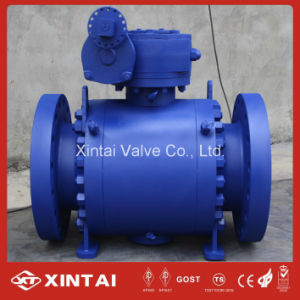 Cast Forged Industrial Mounted Trunnion Ball Valve with Flange