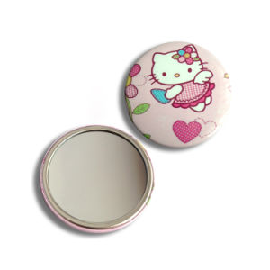 Custom Cmyk Printed Cosmetic Round Pocket Mirror pictures & photos