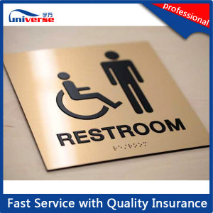 Custom Made Braille Toilet Sign Plate pictures & photos