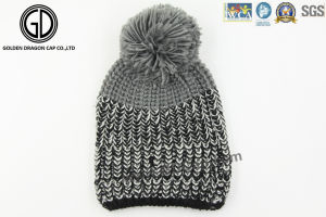 Custom OEM Pompom 100%Acrylic Knitted Beanie, Knitted Hat pictures & photos