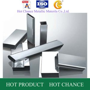 AISI 201.304.316 Stainless Steel Rectangular Pipe 180g pictures & photos