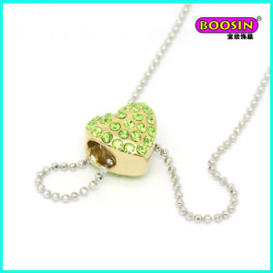New Design Gold Heart Crystal Pendant Silver Jewellery Necklace pictures & photos
