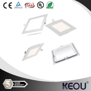 Squre 3W 6W 9W 12W 24W 18W Ultra Thin LED Panel Light with CE&RoHS LED Downlight Ceiling Light pictures & photos