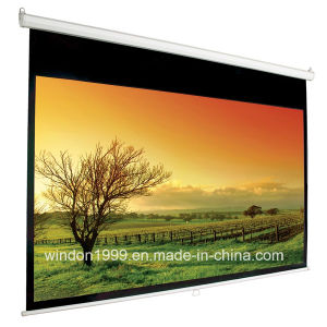 Manual Pull Down Projection Screen Office School Supply pictures & photos