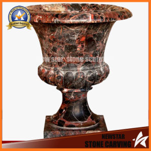 Chocolate Color Stone Carving Garden Flower Pot Stand (NS-11P18) pictures & photos