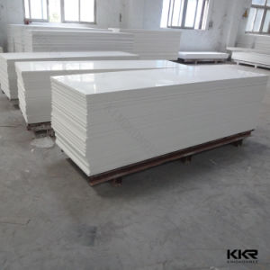 Kingkonree Artificial Stone Glacier White Solid Surface pictures & photos