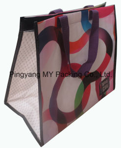 PP Woven Promotion Picnic Lunch Bag OPP Lamination Cooler Bag pictures & photos