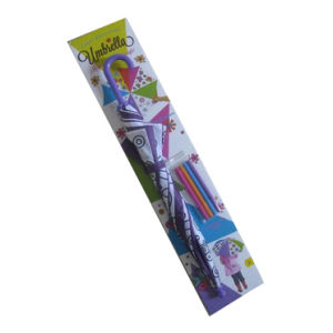 DIY Draw Kids Umbrella with Color Pen and Display Box (CU015) pictures & photos