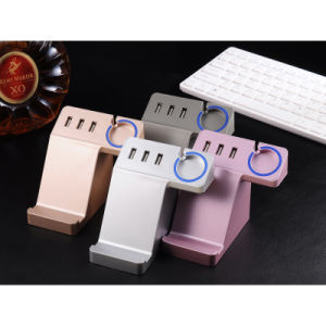 Multi-Function Phone Electric USB Power Charge Socket Outlet with Holder