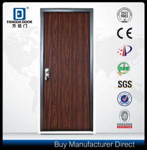Galvanized Steel Frame Flat Exterior Security Steel Residential Metal Door pictures & photos