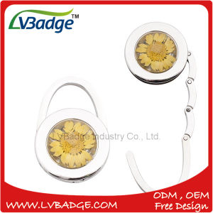 Foldable Metal Bag Hanger with Flower Design pictures & photos