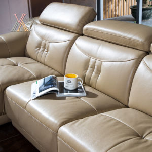 Living Room Leather Sofa Set with Adjustable Headrest (398) pictures & photos
