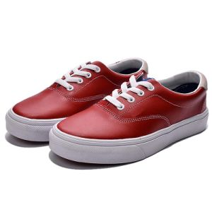 Women Retro Striped Casual Low-up Lace-up Sneakers Premiere Fashion Shoes pictures & photos