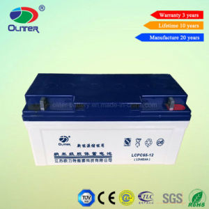 12V 65ah Rechargeable Gel Solar Power Battery for Solar System pictures & photos