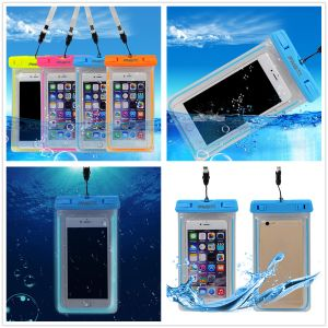 PVC Mobile Waterproof Bag with Lanyard and Arm Strap for iPhone pictures & photos