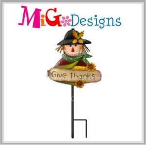 Metal Harvest Special Scarecrow Garden Stake OEM Decoration pictures & photos