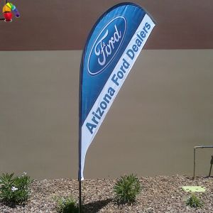 Cheap Custom Polyester Wing Flag pictures & photos