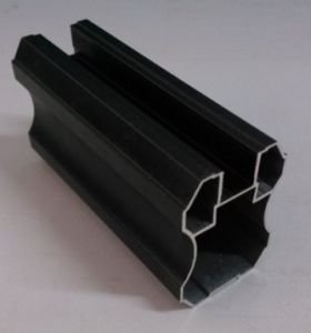 Spray Black Aluminium Profile for Wardrobe Door Material pictures & photos