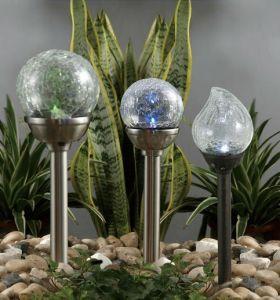 Glass Cover Waterproof Outdoor Solar Lawn Garden Lighting pictures & photos