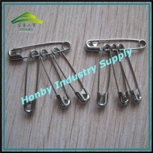 Bunched 28mm Nickel Plated Steel Safety Pins for Sport/Race/Garment Accessory (P160718A) pictures & photos