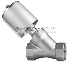 2 Way Full Stainless Steel Angle Seat Valve with Pneumatic Actuator pictures & photos
